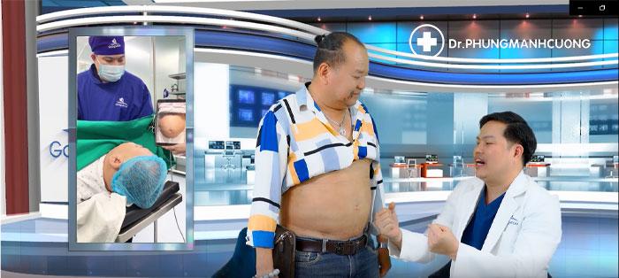Bác sĩ Cường giảm béo vùng bụng cho nghệ sĩ hài Tam Thanh